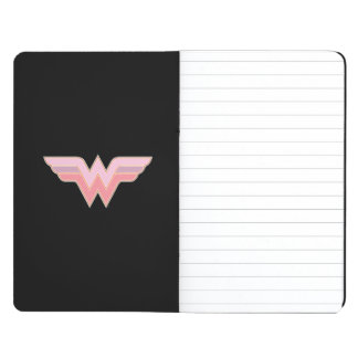 Wonder Woman Pink and Orange Mesh Logo Journals