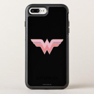 Wonder Woman Pink and Orange Mesh Logo OtterBox Symmetry iPhone 8 Plus/7 Plus Case
