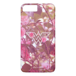 Wonder Woman Pink Camellia Flowers Logo 3 iPhone 7 Plus Case