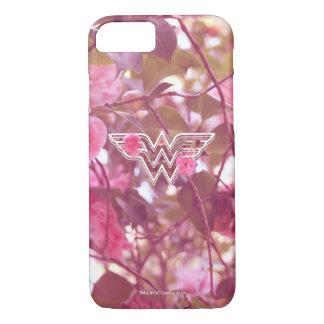 Wonder Woman Pink Camellia Flowers Logo 3 iPhone 8/7 Case