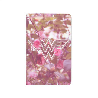 Wonder Woman Pink Camellia Flowers Logo Journals