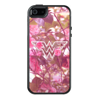 Wonder Woman Pink Camellia Flowers Logo OtterBox iPhone 5/5s/SE Case