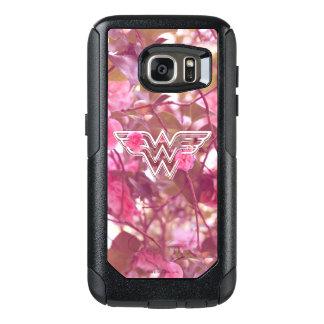 Wonder Woman Pink Camellia Flowers Logo OtterBox Samsung Galaxy S7 Case