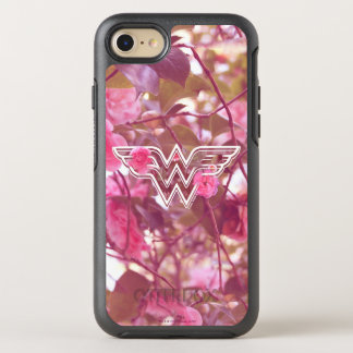Wonder Woman Pink Camellia Flowers Logo OtterBox Symmetry iPhone 8/7 Case