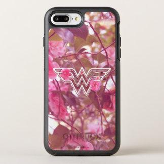 Wonder Woman Pink Camellia Flowers Logo OtterBox Symmetry iPhone 8 Plus/7 Plus Case