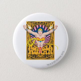 Wonder Woman Poster 6 Cm Round Badge