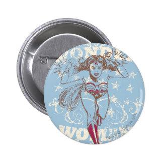 Wonder Woman Pow 6 Cm Round Badge
