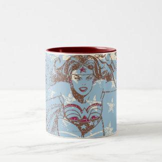 Wonder Woman Pow Two-Tone Mug