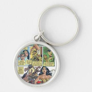 Wonder Woman Princess Diana Silver-Colored Round Key Ring