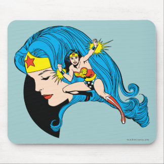Wonder Woman Profile Background Mouse Mat