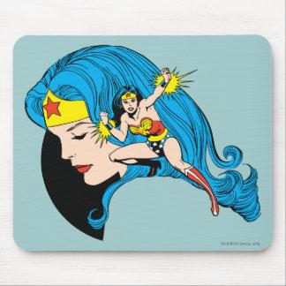 Wonder Woman Profile Background Mouse Pad