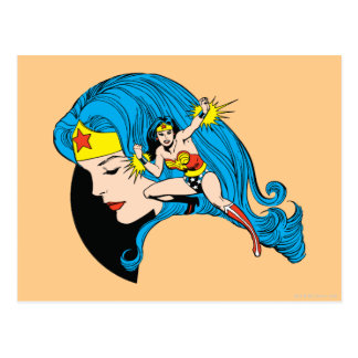 Wonder Woman Profile Background Postcard