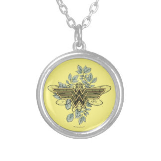 Wonder Woman Queen Bee Logo Silver Plated Necklace