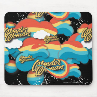 Wonder Woman Rainbow Clouds Pattern Mouse Mat