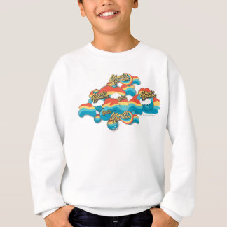 Wonder Woman Rainbow Clouds Pattern Sweatshirt