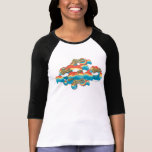 Wonder Woman Rainbow Clouds Pattern T-shirt
