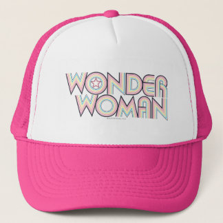 Wonder Woman Rainbow Logo Trucker Hat