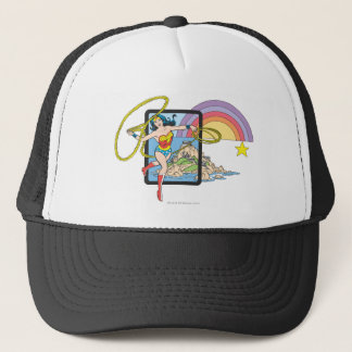 Wonder Woman Rainbow Trucker Hat