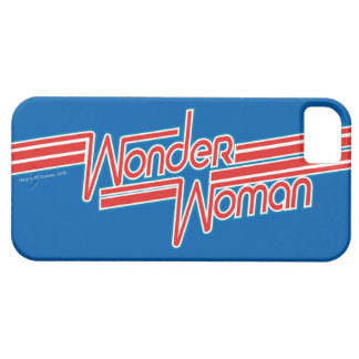 Wonder Woman Red and Blue Stripe Logo Case For The iPhone 5