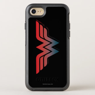 Wonder Woman Red Blue Gradient Logo OtterBox Symmetry iPhone 8/7 Case