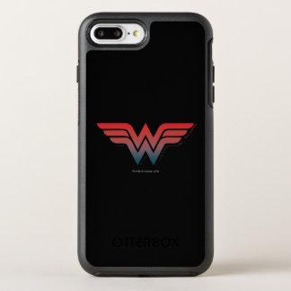 Wonder Woman Red Blue Gradient Logo OtterBox Symmetry iPhone 8 Plus/7 Plus Case