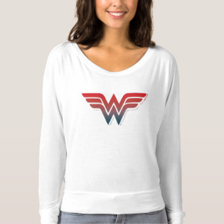 Wonder Woman Red Blue Gradient Logo T-Shirt