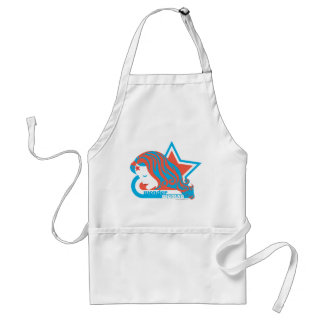 Wonder Woman Red & Blue Star Standard Apron