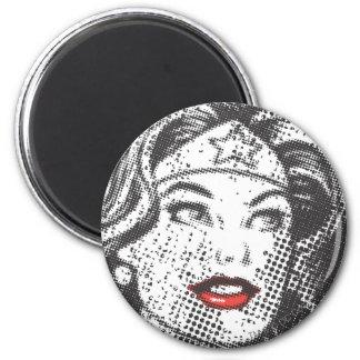 Wonder Woman Red Lips 6 Cm Round Magnet