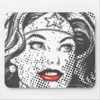 Wonder Woman Red Lips Mouse Mat