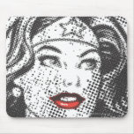 Wonder Woman Red Lips Mouse Pad