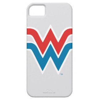Wonder Woman Red White and Blue Logo Barely There iPhone 5 Case