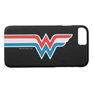 Wonder Woman Red White and Blue Logo iPhone 8/7 Case