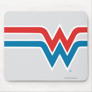 Wonder Woman Red White and Blue Logo Mouse Mat