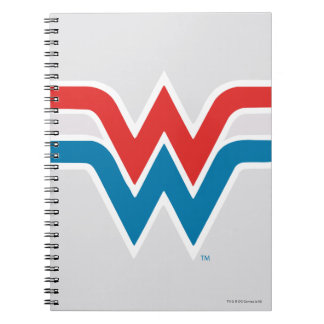 Wonder Woman Red White and Blue Logo Spiral Notebook