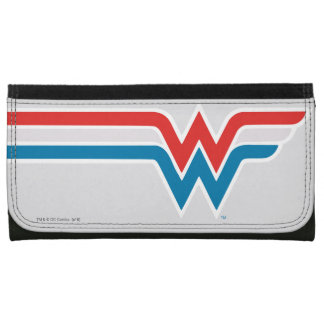 Wonder Woman Red White and Blue Logo Wallet