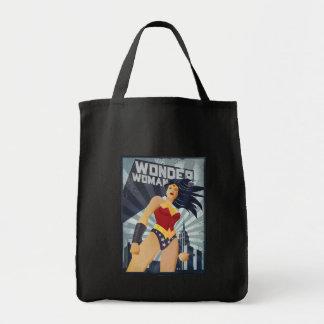 Wonder Woman Retro City Sunburst