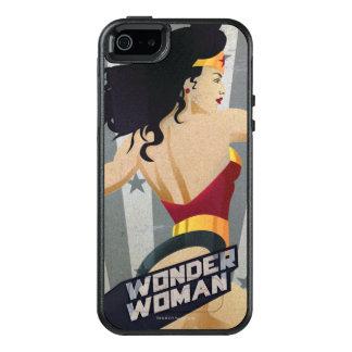 Wonder Woman Retro City Sunburst and Stars OtterBox iPhone 5/5s/SE Case