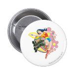 Wonder Woman Retro Flowers 6 Cm Round Badge
