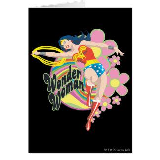 Wonder Woman Retro Flowers Card