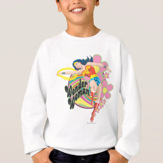 Wonder Woman Retro Flowers Sweatshirt