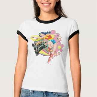 Wonder Woman Retro Flowers T-Shirt