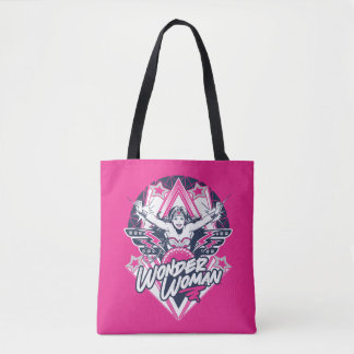 Wonder Woman Retro Glam Rock Graphic Tote Bag