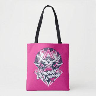 Wonder Woman Retro Glam Rock Graphic Tote Bag