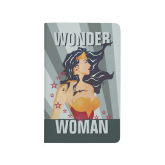 Wonder Woman Retro Profile Sunburst Journals