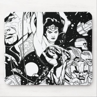 Wonder Woman Return of the Khundi B&W Mousepad