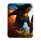 Wonder Woman Running on Battlefield Magnet