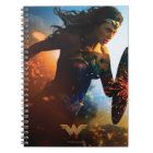 Wonder Woman Running on Battlefield Notebook
