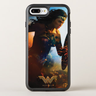 Wonder Woman Running on Battlefield OtterBox Symmetry iPhone 7 Plus Case