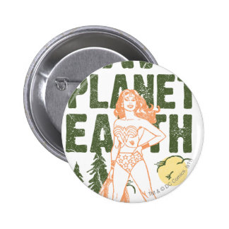 Wonder Woman Save Planet Earth 6 Cm Round Badge