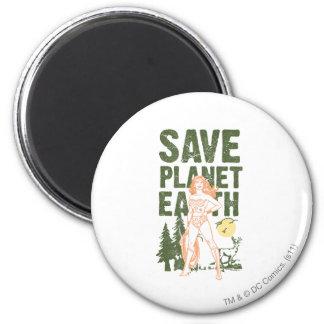Wonder Woman Save Planet Earth Magnet